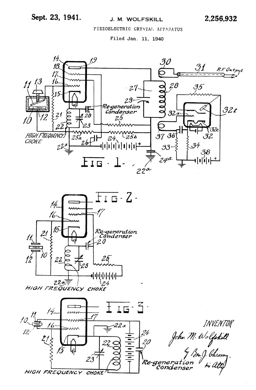 early bliley electric patents  2 256 932